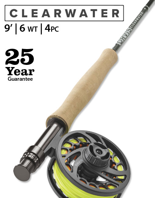 Clearwater 9' 6 weight Fly Rod Outfit