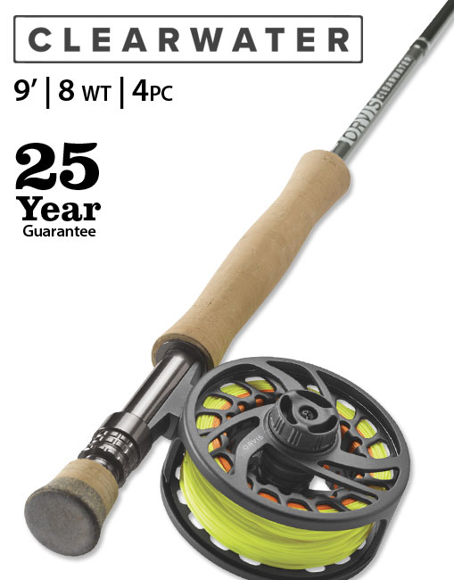 Clearwater 9' 8 weight Fly Rod Outfit