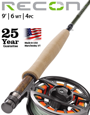 Recon 9' 6 weight Fly Rod Outfit
